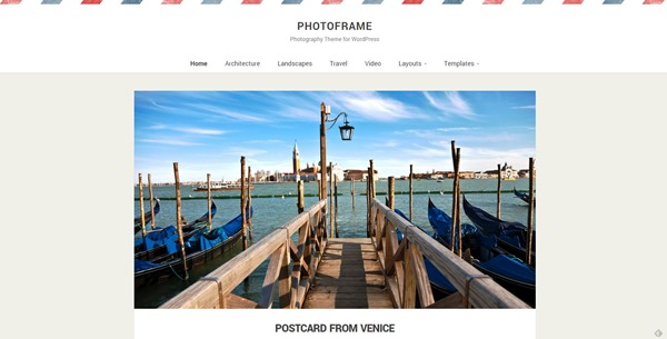 PhotoFrame Photography Theme