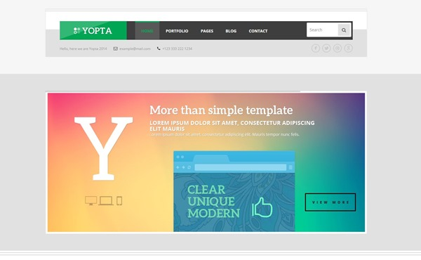 Yopta - Creative WordPress Theme by TeslaThemes