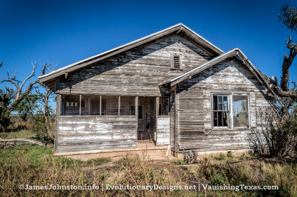 Abandoned Farm House Near Hamlin, Texas - Rear of the house.