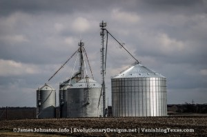Grain Elevators and Grain Silos Near Frost, Texas