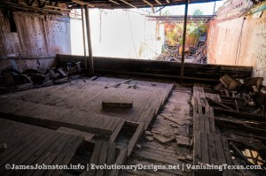 The Abandoned Palace Theater in Anson, Texas - Empty Balcony