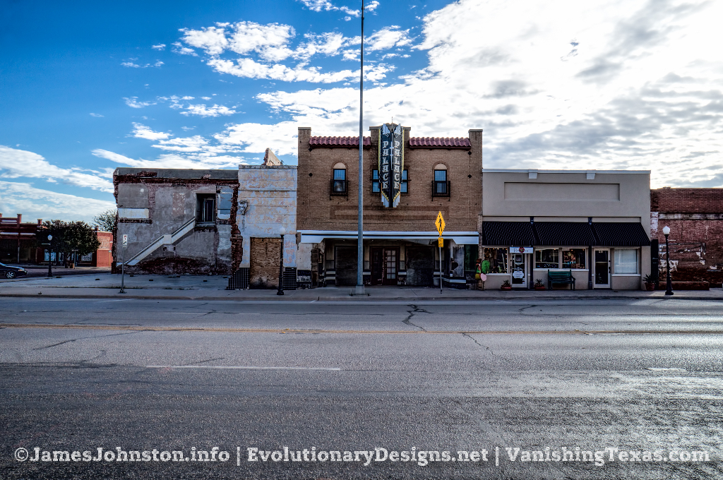 The Abandoned Palace Theater in Anson, Texas - The View from Across the Street