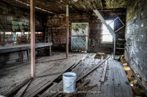 The Abandoned Bug Tussle General Store - All that's left is the service counter.