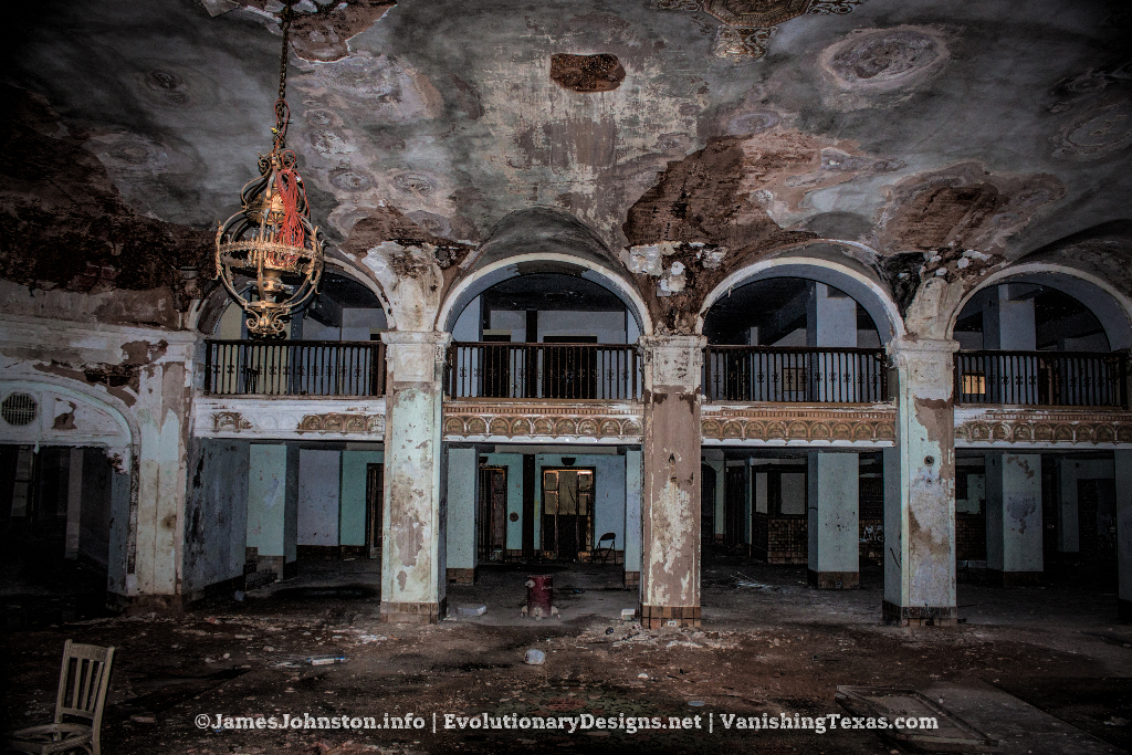 The Grand Lobby - The Abandoned Baker Hotel in Mineral Wells, Texas