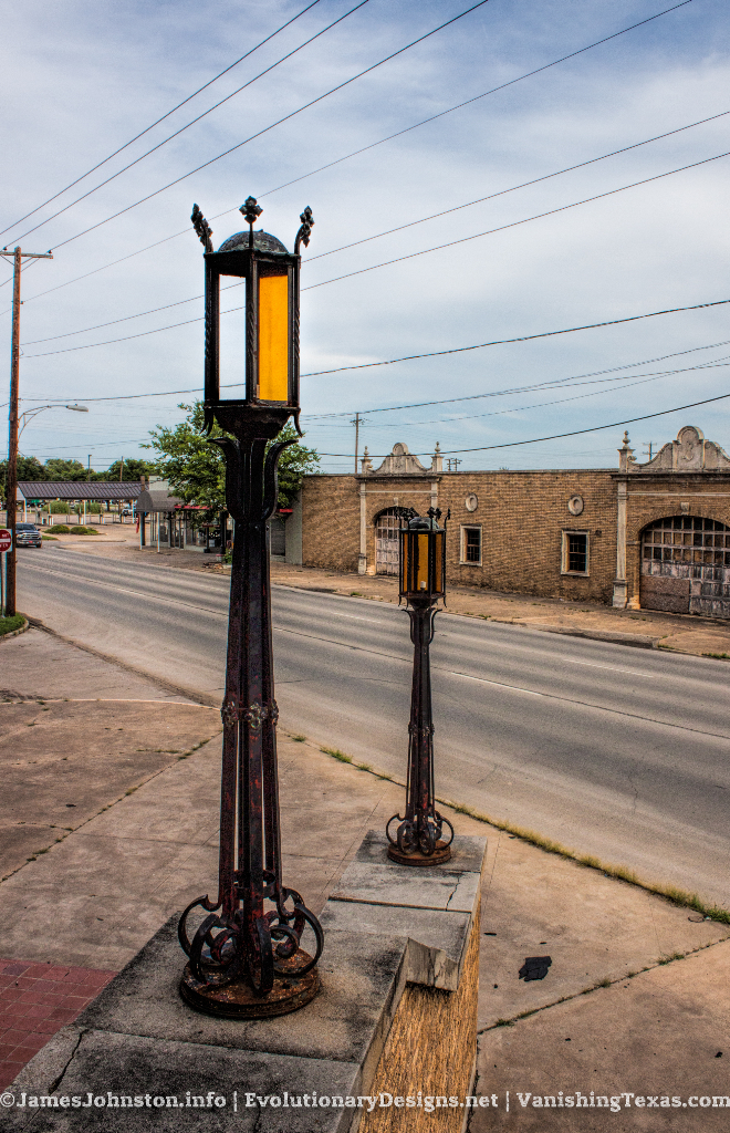 Front Entry Lighting - The Abandoned Baker Hotel in Mineral Wells, Texas