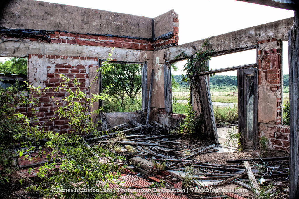 The Abandoned Canty Bust stop and Service Station