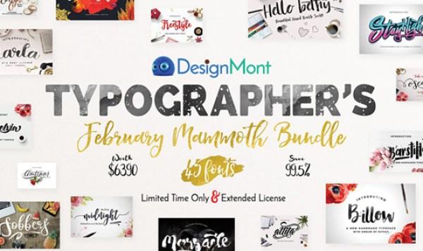 Typographer's February Mammoth Bundle worth $6,390 (99.5% Off)