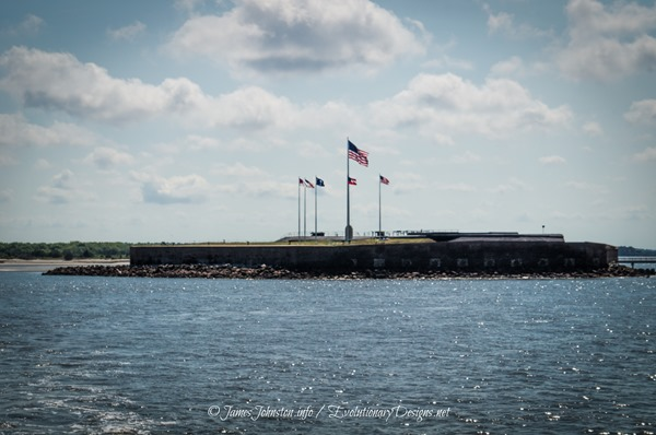 The Flags that Fly over Fort Sumter