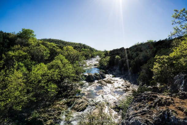 Turner Falls Park - Bridal Veil Falls on Honey Creek