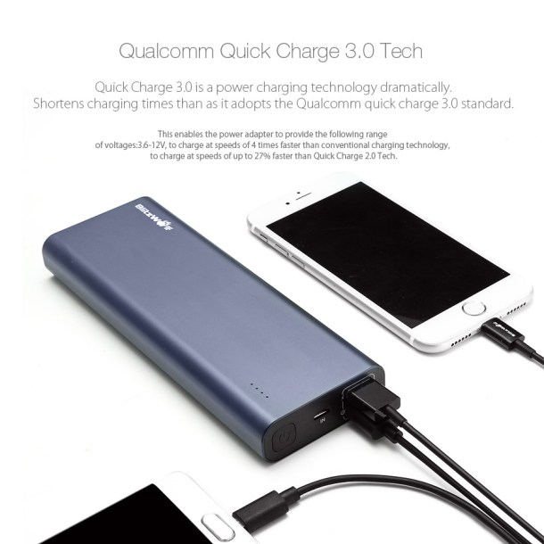 BlitzWolf BW-P5 15600mAh Quick Charge 3.0 Dual USB Power Bank