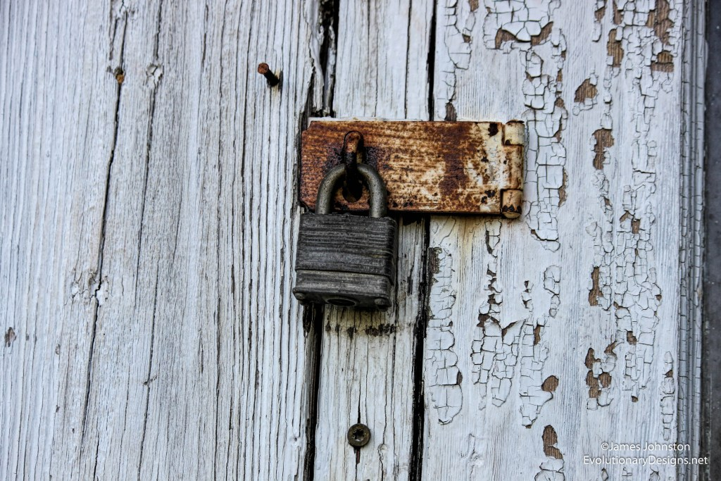 Fort Wolters - Old Rusty Lock on one of the old barracks