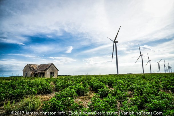 West Texas Windmills and a Abandoned Farm House - Texas Landscape Pictures
