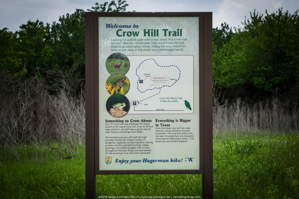Crow Hill Trail – Hagerman National Wildlife Refuge – Trail Info Sign