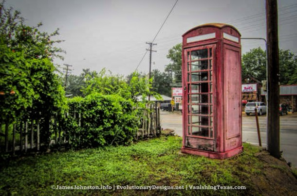 Red Phone Booth in Palo Pinto, Texas