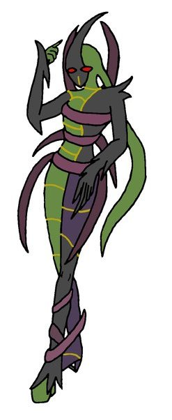 Fiona in her Ichthala, the All-Devouring Mother Armor, (c) 2008 by DarkshireWarlock