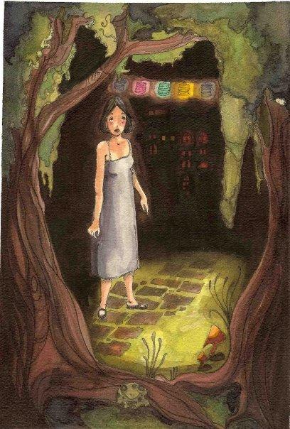 Jo in the ruby palace garden.