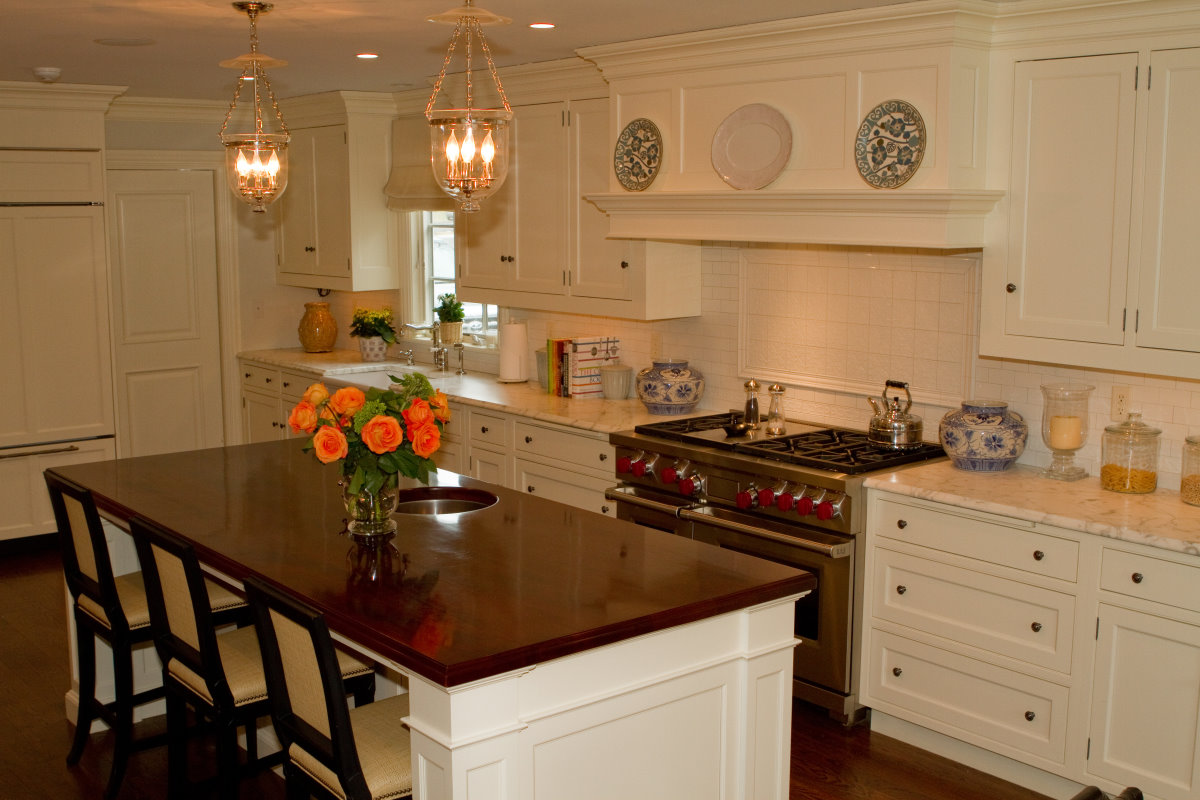 Kitchen With Cherry Cabinets Kitchens | James Kershaw Associates