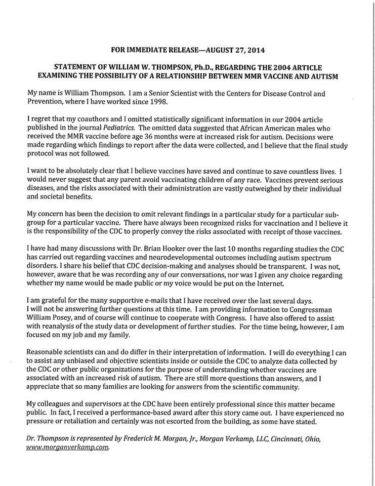 thompson press release