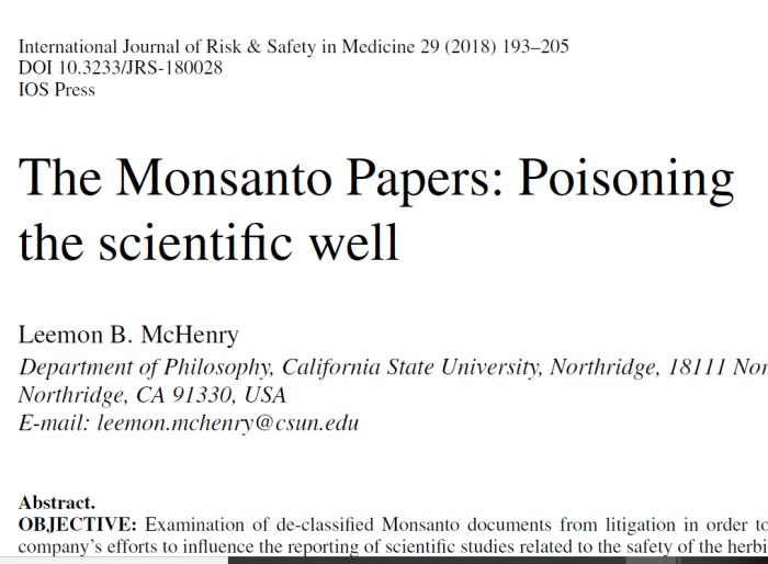 Dewayne Johnson vs  Monsanto on Glyphosate and Cancer: What