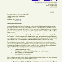 IPAK Letter to Surgeon General Adams