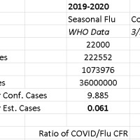 Another View on Influenza vs. COVID-19 Death Rates