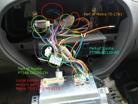 toyota corolla stereo wiring diagram bird of internal organ factory microphone harness adapter adding a 2012 scion pt546 00130 radio to 2006 tundra dc
