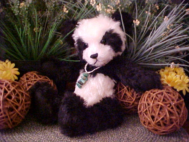 Sun Tzu Too- a Black & White Mohair Panda