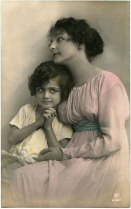 Vintage Mother and Child