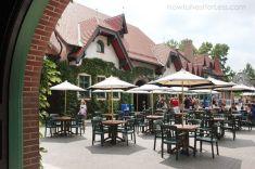 Grant's Farm in St. Louis, Missouri Beer Garden Hospitality Area- the Bauernhof