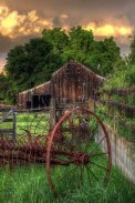 Old Barn with Hay Rake ~ from Sun Baked Treasures