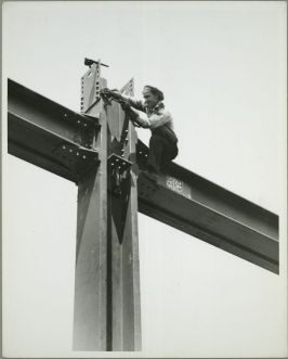 Vintage Construction Site Empire State Building 8