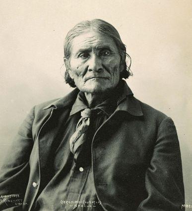 Geronimo, Chiricahua Apache leader. (Photograph by Frank A. Rinehart, 1898.)