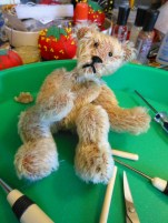 A Mohair Bear in Progress, Feeling Rather Empty at the Moment