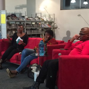 Panashe, Zukiswa and Ndumiso on panel.