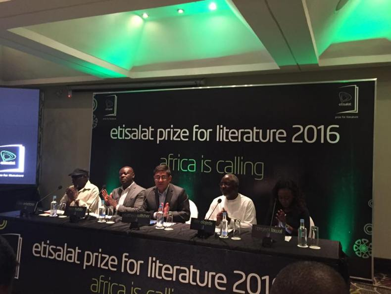 Kole Omotoso, Helon Habila, Matthew Willsher, Dele Olojede and Opeyemi Lawal