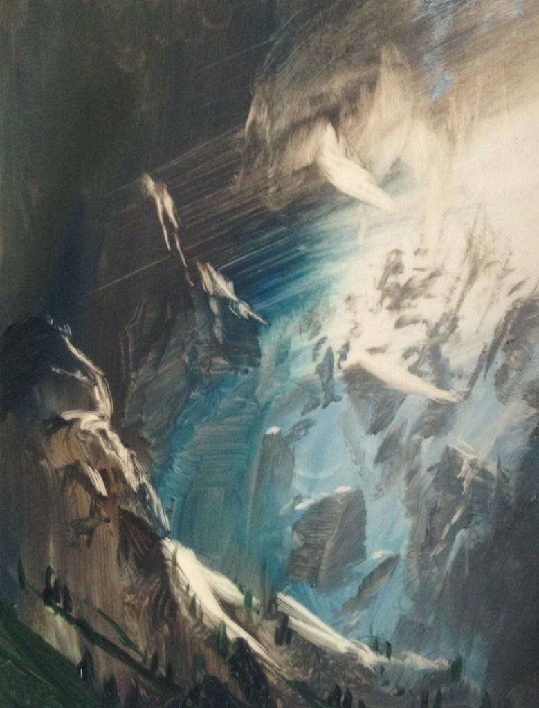 Mountain Glimpse, 13x18cm