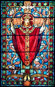 Christ the King stained glass