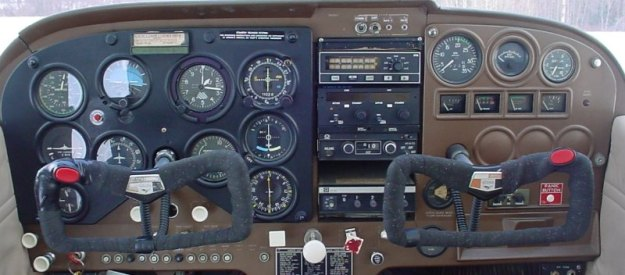 1966 Cessna 172 with a top of the line LORAN upgrade (Top center)