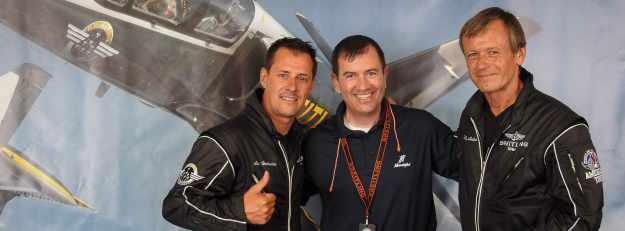 Jim with the Briteling Aerobatic Team