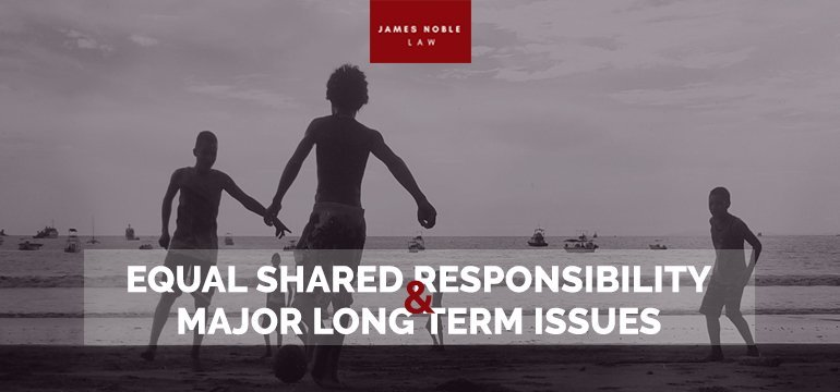Equal Shared Responsibility and Major Long Term Issues