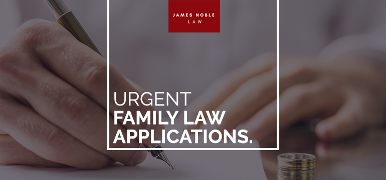 Urgent Family Law Applications