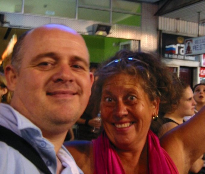 Kate and James at Mardi Gras