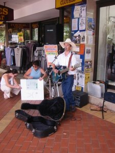 Busking in Tamworth