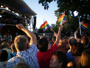 Allsang pa Skansen - the national Swedish sing-a-long program - during Europride.