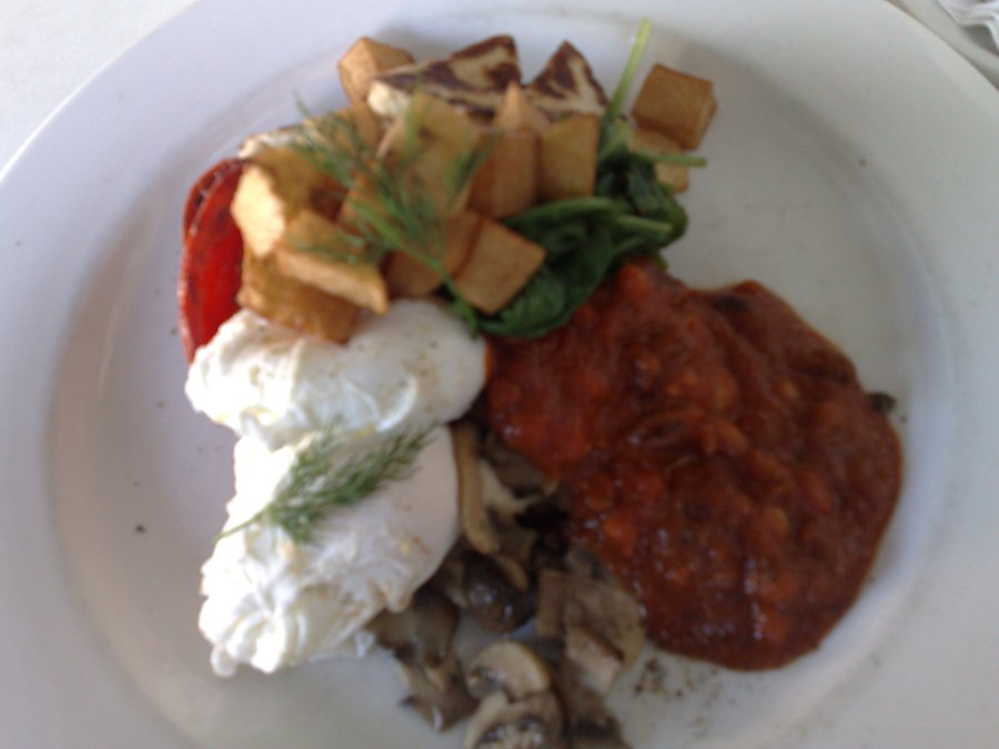 The ghost of Breakfast Past. This was a vegetarian breakfast at a cafe on Baptist Street, Redfern taken in February 2008.