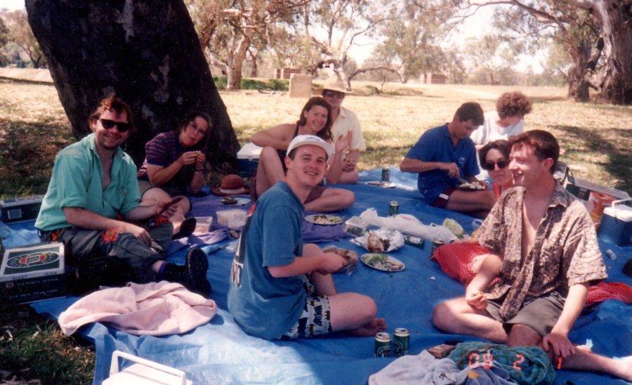 Work picnic on the Murrumbidgee