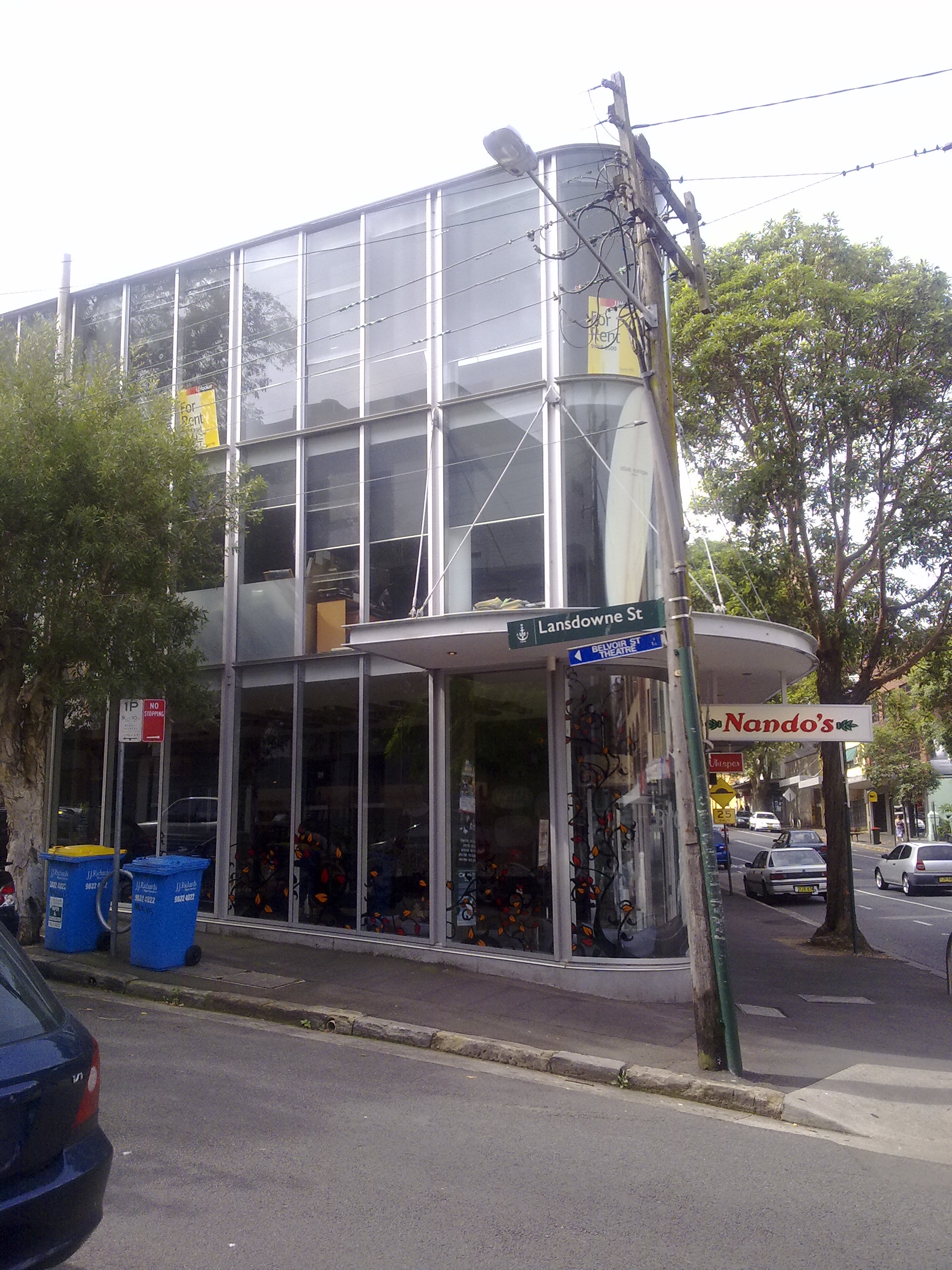 Currently Nandos on the corner of Crown and Lansdowne streets, Surry Hills