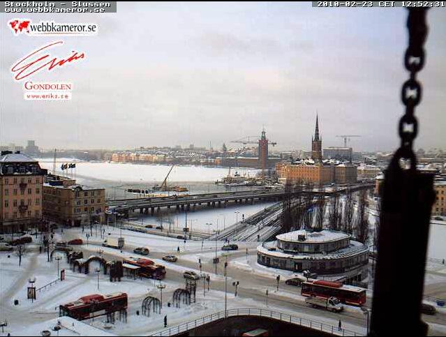 The view of Slussen, thanks to http://www.webbkameror.se