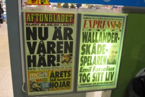 March 4, 2010 - Spring is here, Wallander actor takes his life