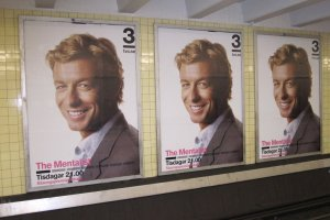 A touch of Lismore-Ballina with posters of Simon Baker-Denny everywhere in Stockholm at the moment